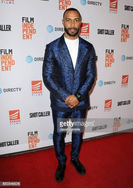 Actor Omari Hardwick attends the premiere of 'Shot Caller' at The Theatre at Ace Hotel on August 15 2017 in Los Angeles California