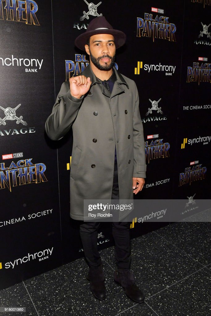 Actor Omari Hardwick attends the screening of Marvel Studios' 'Black Panther' hosted by The Cinema Society on February 13, 2018 in New York City.