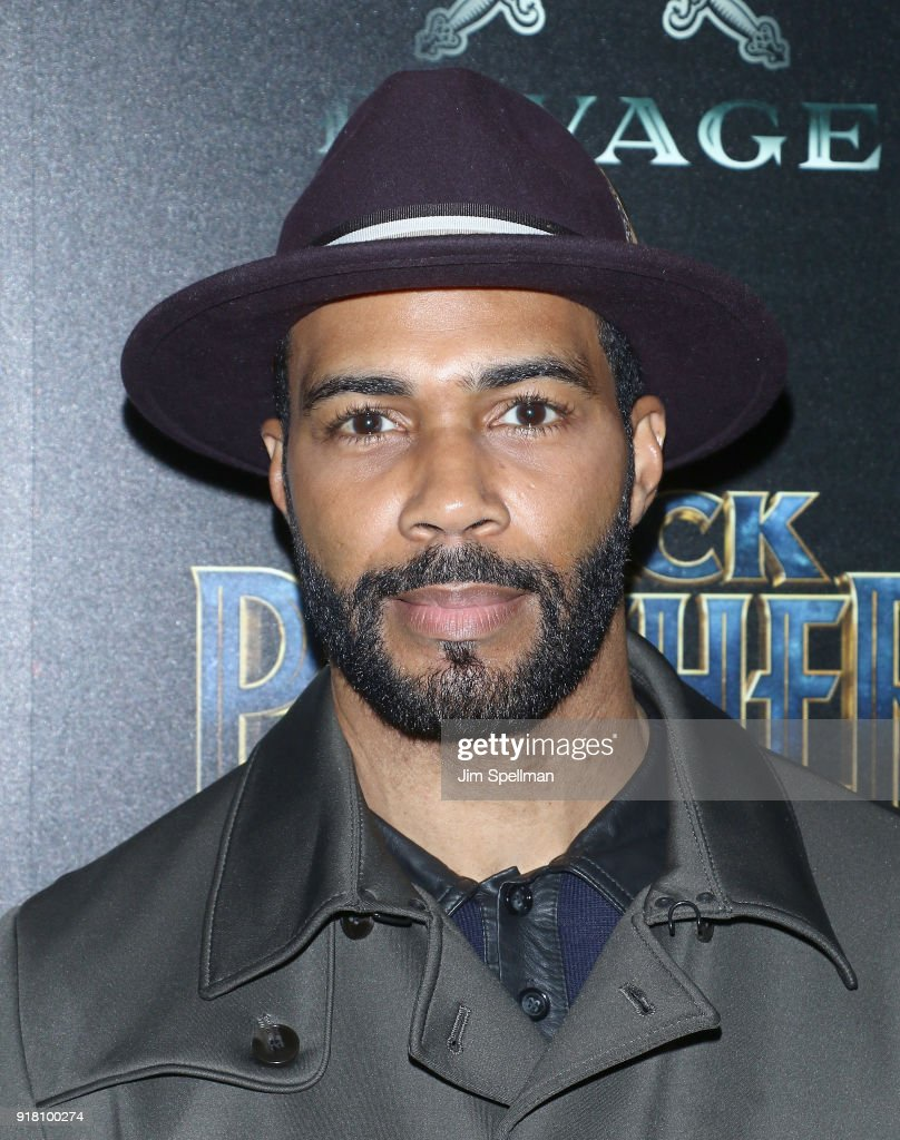 Actor Omari Hardwick attends the screening of Marvel Studios' 'Black Panther' hosted by The Cinema Society with Ravage Wines and Synchrony at Museum of Modern Art on February 13, 2018 in New York City.