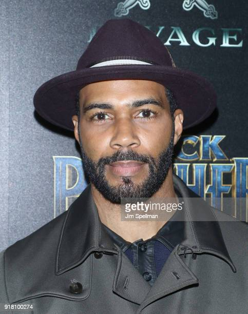 Actor Omari Hardwick attends the screening of Marvel Studios' 'Black Panther' hosted by The Cinema Society with Ravage Wines and Synchrony at Museum...