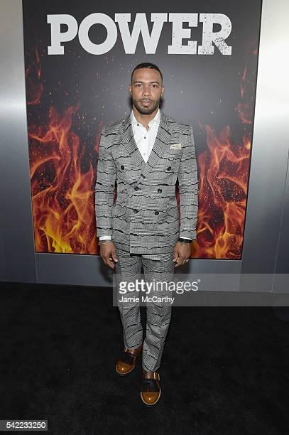 Actor Omari Hardwick attends the STARZ Power New York season three premiere at SVA Theatre on June 22 2016 in New York City