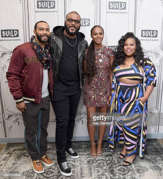 Actor Omari Hardwick director/screenwriter Tyler Perry actors Tika Sumpter and Amber Riley visit Build Series to discuss the film 'Nobody's Fool' at...