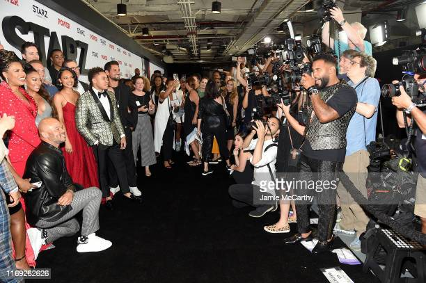 """Actor Omari Hardwick photographs the cast of """"Power"""" at STARZ Madison Square Garden """"Power"""" Season 6 Red Carpet Premiere, Concert, and Party on..."""