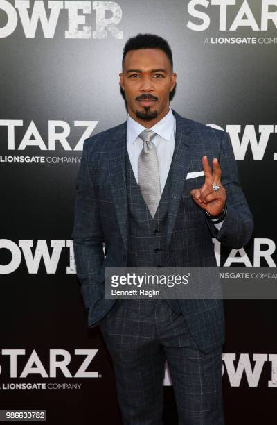 Actor Omari Hardwick poses for a picture during the Power Season 5 premiere at Radio City Music Hall on June 28 2018 in New York City