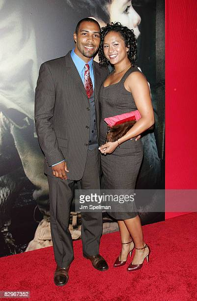 Actor Omari Hardwick with guest attends the premiere of Miracle at St Anna at Ziegfeld Theatre on September 22 2008 in New York City