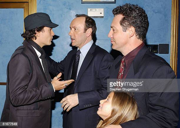 Actor Orlando Bloom actor Kevin Spacey Dodd Darin son of singer Bobby Darin and Alexa Darin attend the after party following the opening night of AFI...