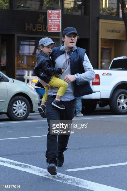 Actor Orlando Bloom and Flynn Bloom are seen on October 28 2013 in New York City