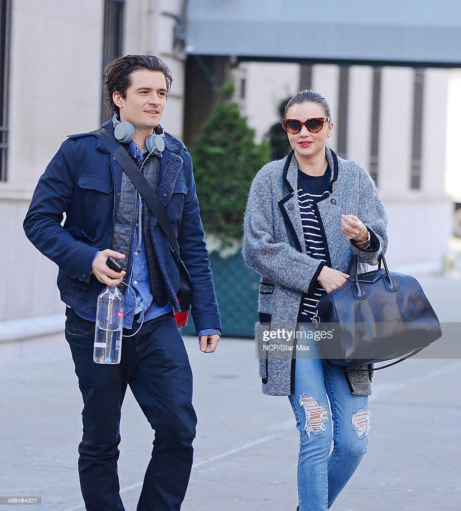 Actor Orlando Bloom and Miranda Kerr are seen on December 13, 2013 in New York City.