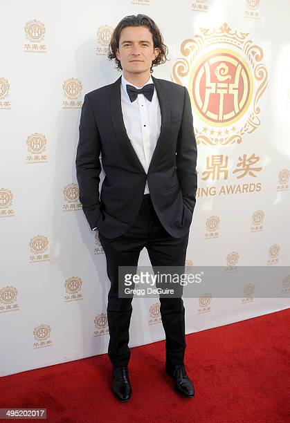 Actor Orlando Bloom arrives at the 2014 Huading Film Awards at The Montalban Theater on June 1 2014 in Hollywood California
