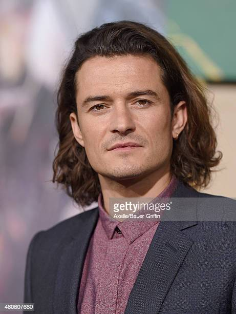 Actor Orlando Bloom arrives at the Los Angeles premiere of 'The Hobbit: The Battle Of The Five Armies' at Dolby Theatre on December 9, 2014 in...