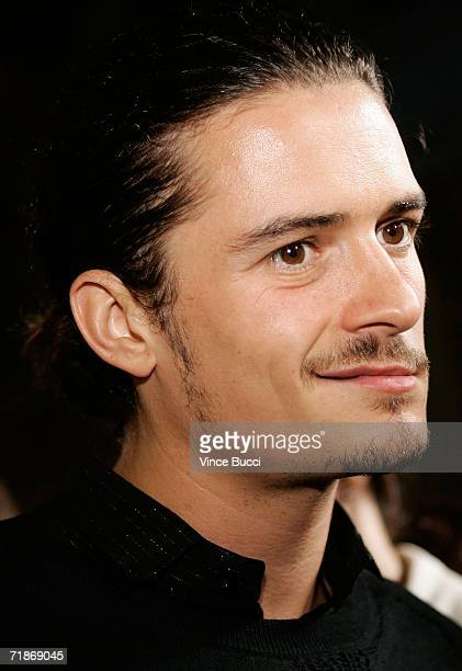 Actor Orlando Bloom arrives for the Los Angeles premiere of Yari Film Group's Haven at the ArcLight Cinemas on September 12 2006 in Los Angeles...