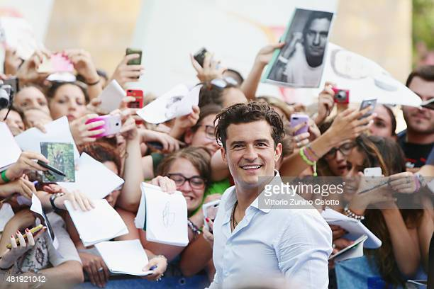 Actor Orlando Bloom attends Giffoni Film Festival 2015 Day 9 blue carpet on July 25 2015 in Giffoni Valle Piana Italy