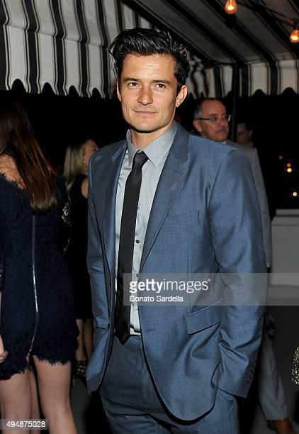 Actor Orlando Bloom attends James Corden, Vanity Fair And Burberry Celebrate The 2015 British Academy BAFTA Los Angeles Britannia Awards on October...