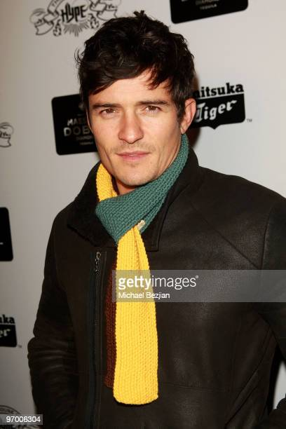 Actor Orlando Bloom attends Onitsuka Tiger and Maestro Dobel Tequila Presents Sympathy For Delicious Cast Dinner At House Of Hype on January 24 2010...