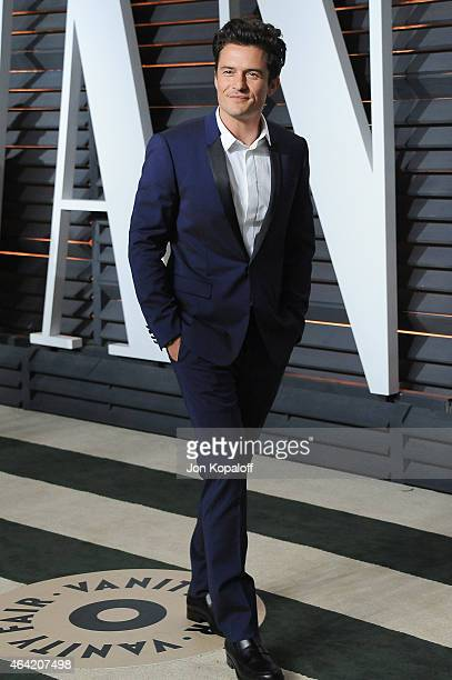 Actor Orlando Bloom attends the 2015 Vanity Fair Oscar Party hosted by Graydon Carter at Wallis Annenberg Center for the Performing Arts on February...