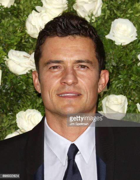 Actor Orlando Bloom attends the 71st Annual Tony Awards at Radio City Music Hall on June 11 2017 in New York City