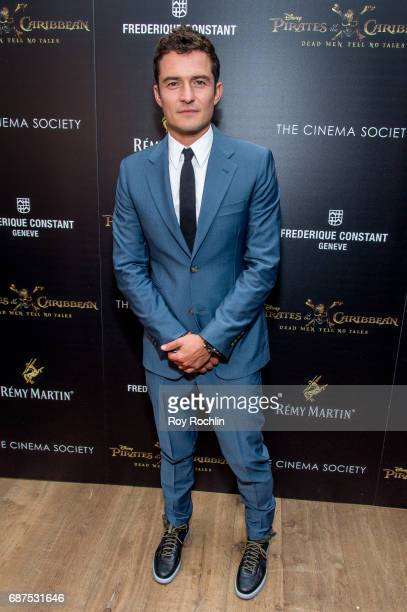 Actor Orlando Bloom attends The Cinema Society host a screening of 'Pirates Of The Caribbean Dead Men Tell No Tales' at Crosby Street Hotel on May 23...