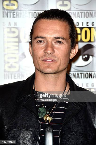Actor Orlando Bloom attends The Hobbit The Battle Of The Five Armies Press Line during ComicCon International 2014 at Hilton Bayfront on July 26 2014...