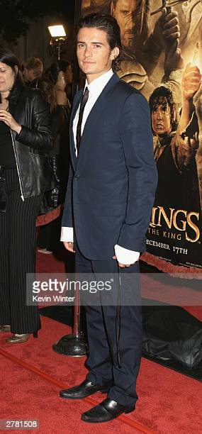Actor Orlando Bloom attends the premiere of 'The Lord of the Rings The Return of the King' at the Mann Village Theatre December 3 2003 in Los Angeles...