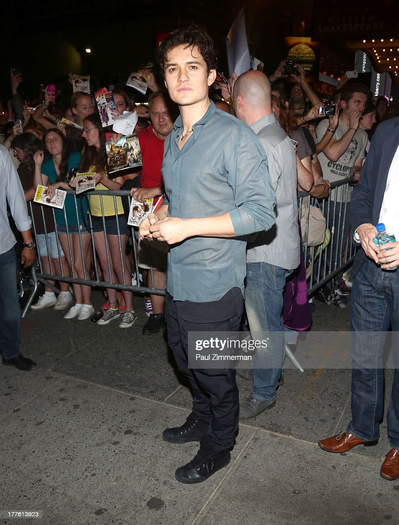 Actor Orlando Bloom attends the 'Romeo And Juliet' On Broadway First Performance at the Richard Rodgers Theatre on August 24, 2013 in New York City.