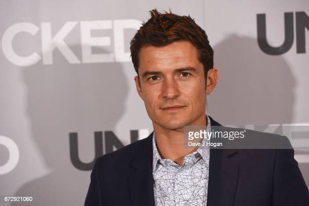Actor Orlando Bloom attends the screening of 'Unlocked' at The Mayfair Hotel on April 25 2017 in London United Kingdom