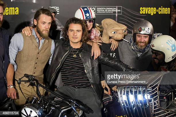 Actor Orlando Bloom attends the 'The Greasy Hands Preachers' premiere at the Kursaal Palace during the 62nd San Sebastian International Film Festival...