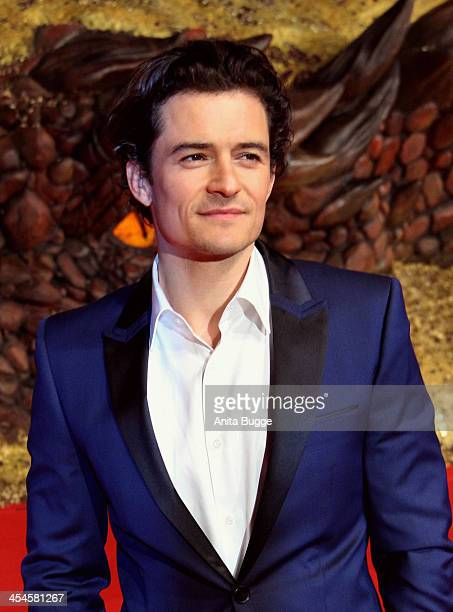 Actor Orlando Bloom attends the The Hobbit The Desolation of Smaug European Premiere at Cinestar on December 9 2013 in Berlin Germany