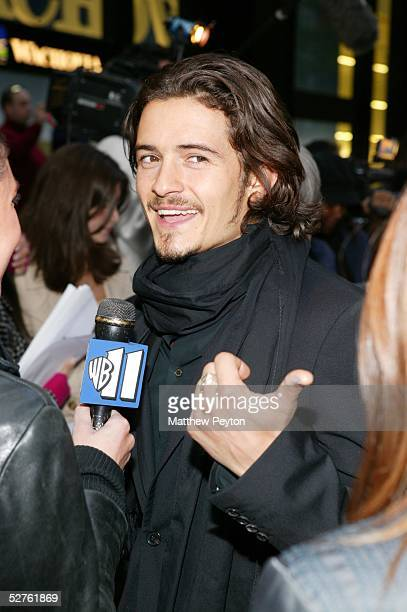 Actor Orlando Bloom attends the Twentieth Century Fox Premiere of Kingdom Of Heaven at Clearview's Ziegfeld Theater May 4 2005 in New York City