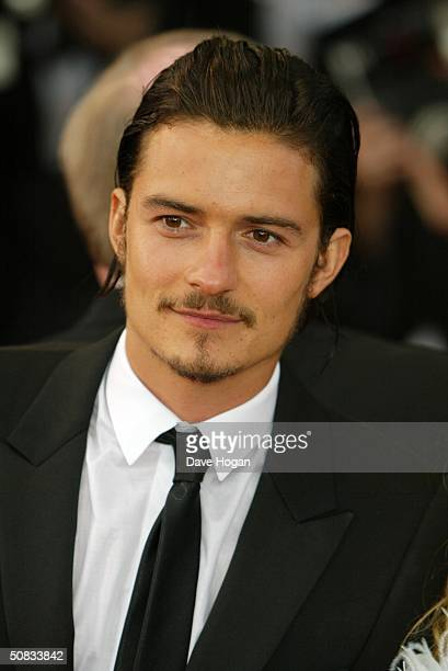 Actor Orlando Bloom attends the World Premiere of epic movie Troy at Le Palais de Festival on May 13 2004 in Cannes France