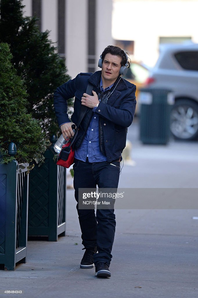 Actor Orlando Bloom is seen on December 13, 2013 in New York City.