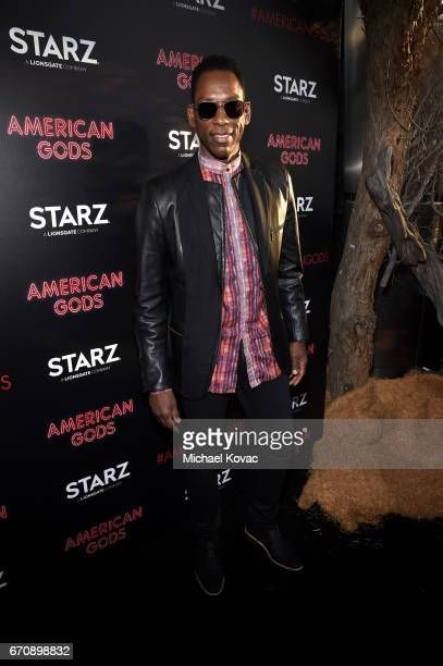 Actor Orlando Jones attends the American Gods premiere at ArcLight Hollywood on April 20 2017 in Los Angeles California