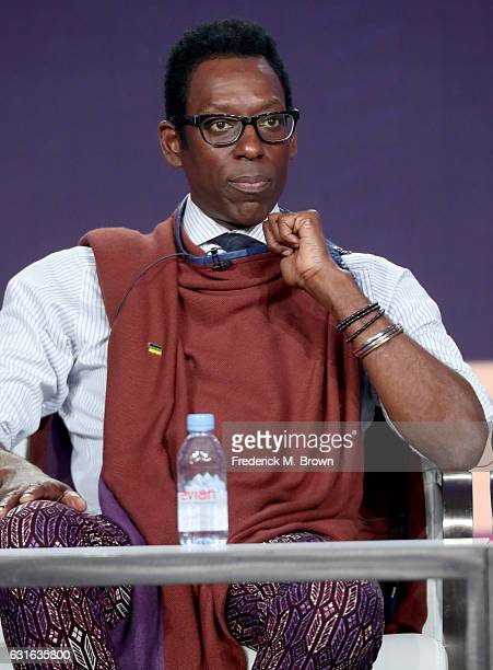 Actor Orlando Jones of the miniseries 'Madiba' speaks onstage during the BET portion of the 2017 Winter Television Critics Association Press Tour at...
