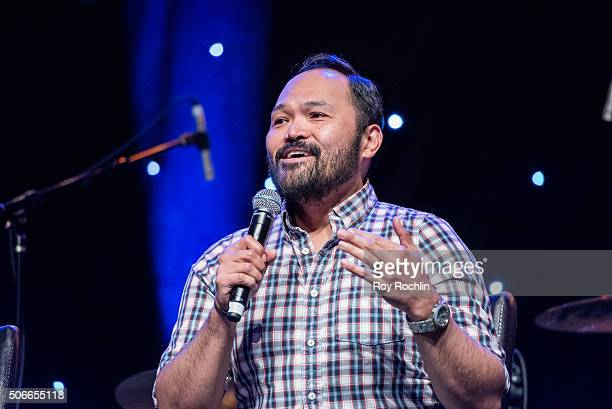 Actor Orville Mendoza performes at BroadwayCon 2016 at the New York Hilton Midtown on January 24 2016 in New York City