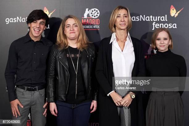 Actor Oscar Casas Adenai Perez Madrid Premier Week director Rosa Perez and actress Laia Manzanares attend 'Proyecto Tiempo' press conference at the...