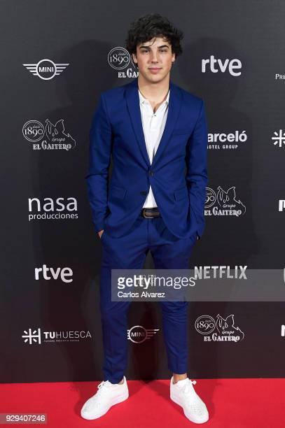 Actor Oscar Casas attends 'Bajo La Piel del Lobo' premiere at the Callao cinema on March 8 2018 in Madrid Spain