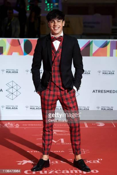 Actor Oscar Casas attends 'Malaga Sur' 2019 award at the Cervantes Theater on March 17 2019 in Malaga Spain