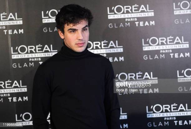 Actor Oscar Casas nominated to Feroz Awards attends a presentation by GLAM team L'Oreal ahead of the Feroz Awards on January 16 2020 in Madrid Spain