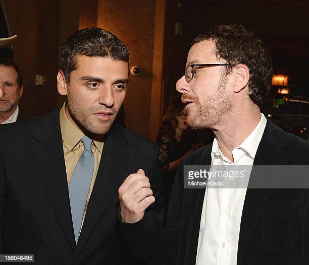 Actor Oscar Isaac and writer/director Ethan Coen attend the after party for the AFI FEST 2013 presented by Audi closing night gala screening of...