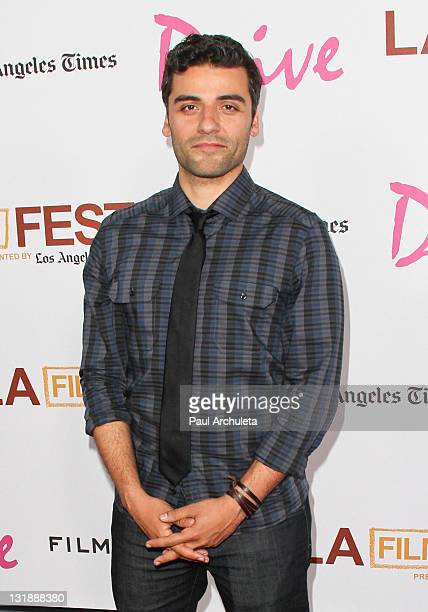"""Actor Oscar Isaac arrives at the 2011 Los Angeles Film Festival's """"Drive"""" special gala screening at Regal Cinemas L.A. Live on June 17, 2011 in Los..."""