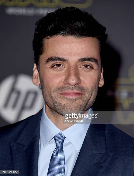 Actor Oscar Isaac arrives at the premiere of Walt Disney Pictures' and Lucasfilm's Star Wars The Force Awakens at the Dolby Theatre TCL Chinese...