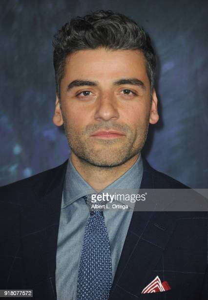 Actor Oscar Isaac arrives for the premiere of Paramount Pictures' 'Annihilation' held at Regency Village Theatre on February 13 2018 in Westwood...