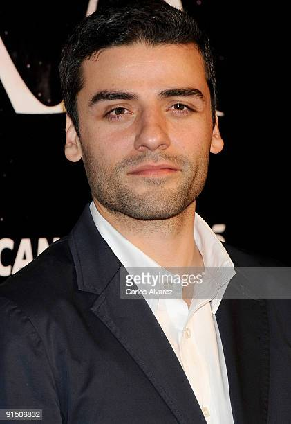 Actor Oscar Isaac attends 'Agora' premiere at Kinepolis Cinema on October 6 2009 in Madrid Spain