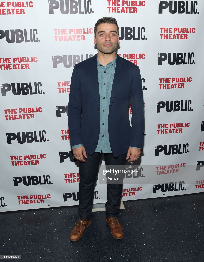 Actor Oscar Isaac attends 'Hamlet' Opening Night at The Public Theater on July 13, 2017 in New York City.