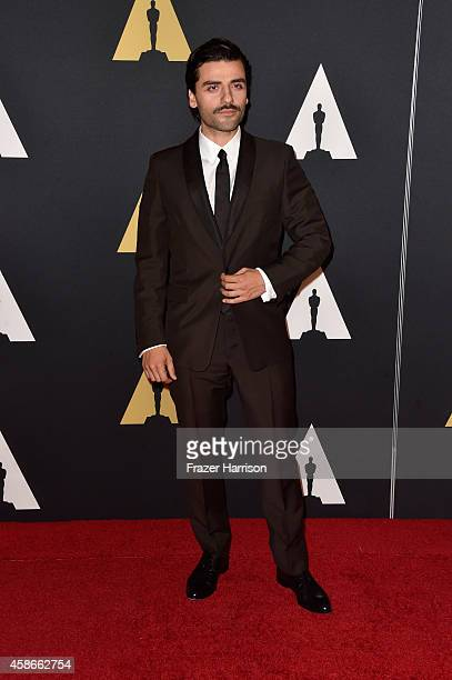 Actor Oscar Isaac attends the Academy Of Motion Picture Arts And Sciences' 2014 Governors Awards at The Ray Dolby Ballroom at Hollywood Highland...