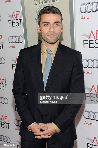 Actor Oscar Isaac attends the AFI FEST 2013 presented by Audi closing night gala screening of 'Inside Llewyn Davis' at TCL Chinese Theatre on...