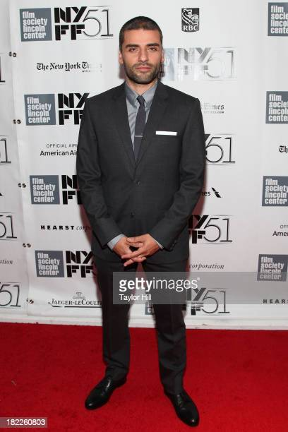 Actor Oscar Isaac attends the 'Inside Lleywn Davis' permiere during the 51st New York Film Festival at Alice Tully Hall at Lincoln Center on...