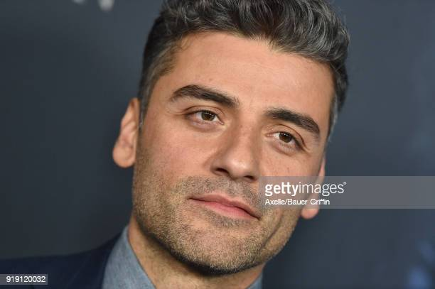 Actor Oscar Isaac attends the Los Angeles premiere of 'Annihilation' at Regency Village Theatre on February 13 2018 in Westwood California