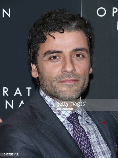 Actor Oscar Isaac attends the Operation Finale New York premiere at Walter Reade Theater on August 16 2018 in New York City