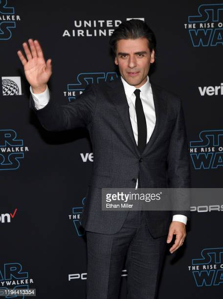 Actor Oscar Isaac attends the premiere of Disney's Star Wars The Rise of Skywalker on December 16 2019 in Hollywood California