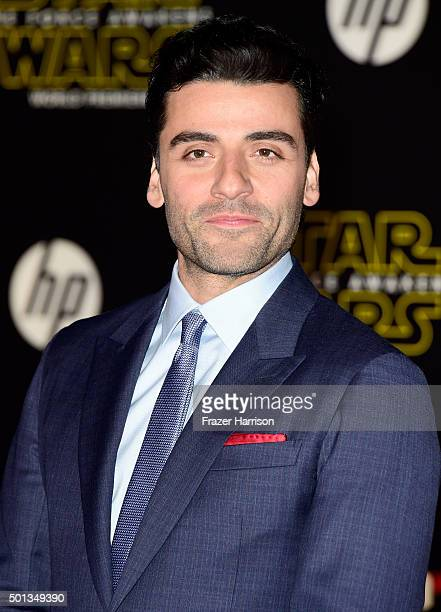 Actor Oscar Isaac attends the premiere of Walt Disney Pictures and Lucasfilm's Star Wars The Force Awakens on December 14th 2015 in Hollywood...